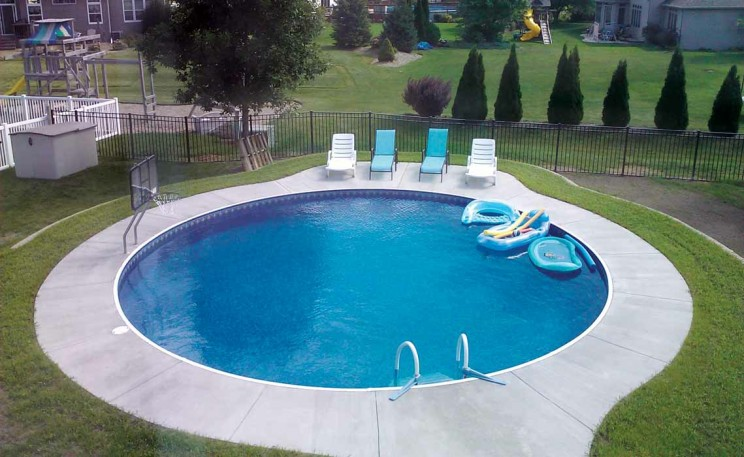 Hidden water pools cost everything about hidden pools Rectangle vs round pool