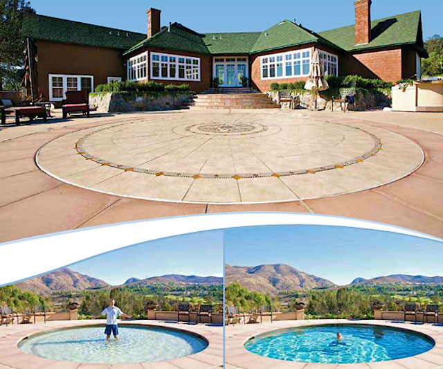 Hidden water pools cost everything about hidden pools for Cool outdoor pools