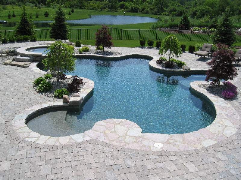 in-ground swimming pool photo 1 – Hidden Water Pools Cost